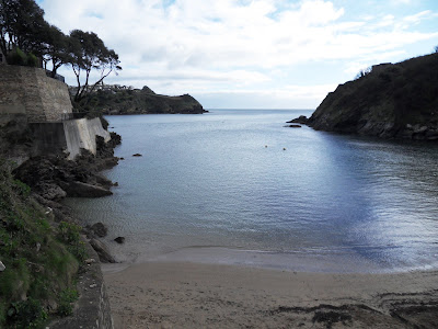 Readymoney cove and beach Fowey Cornwall