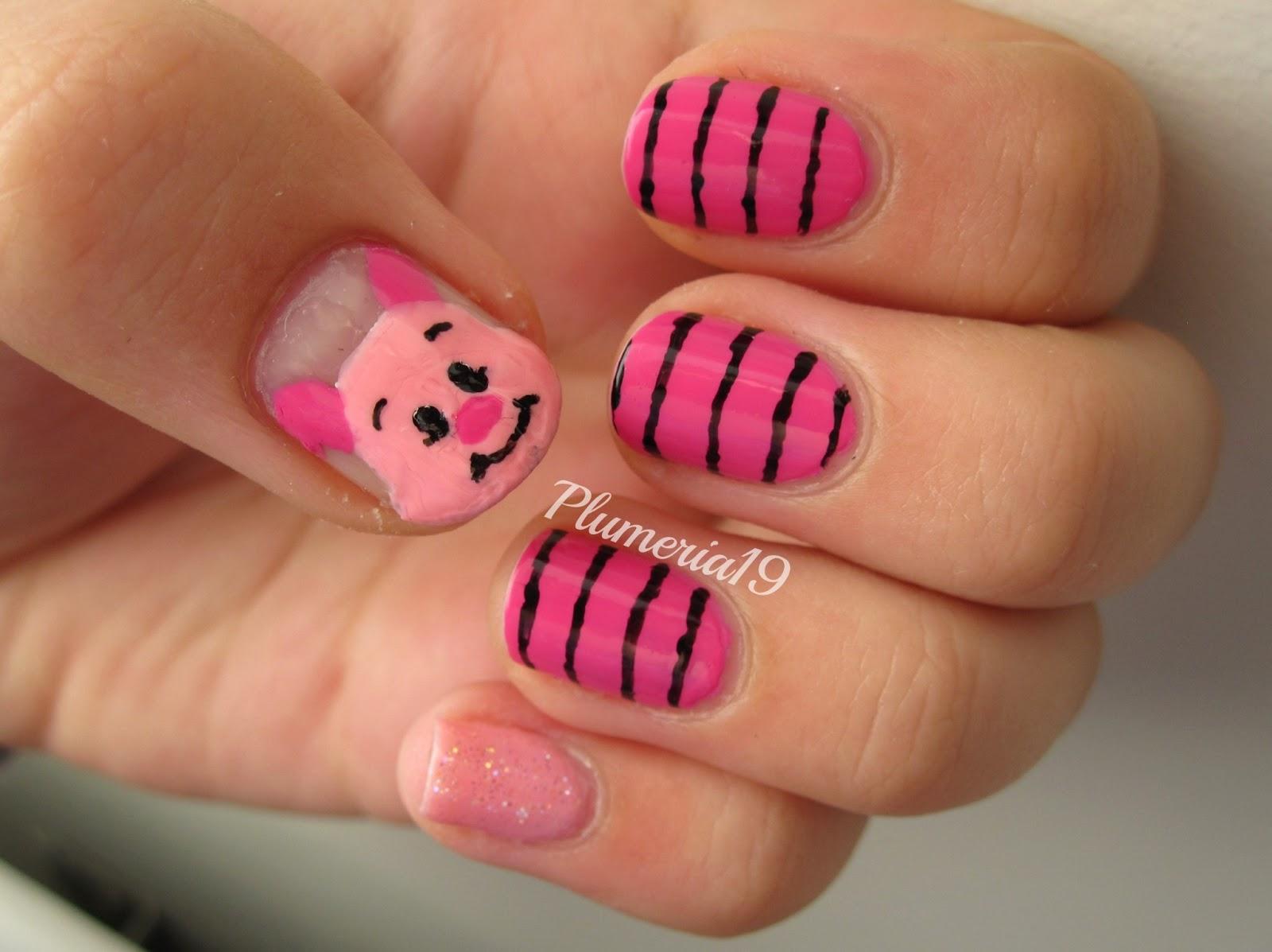 Plumeriapainted Oh D D D Dear Piglet Nails