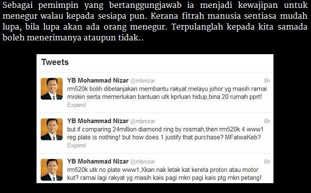 DS Nizar memohon maaf mengenai kenyataan itu mungkin DS Nizar ...