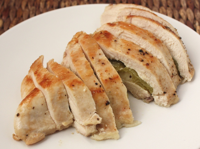 Barefeet In The Kitchen: Green Chile and Pepper Jack Stuffed Chicken