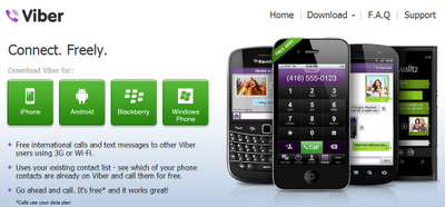 Viber app, make free VoIP calls, texts, IM and group messaging