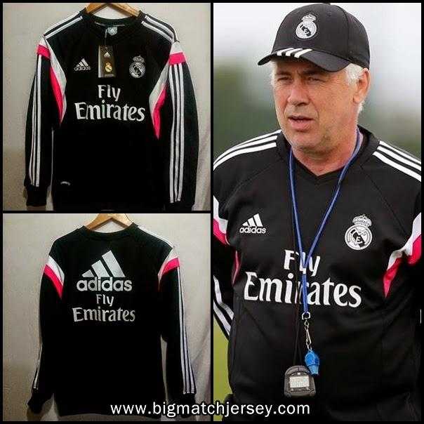 Sweater Training Real Madrid Terbaru Musim 2015 (Cristiano Ronaldo, Toni Kroos, James Rodriguez)