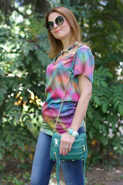 Hippy look, anni 70, tie dye blouse, Fashion and Cookies