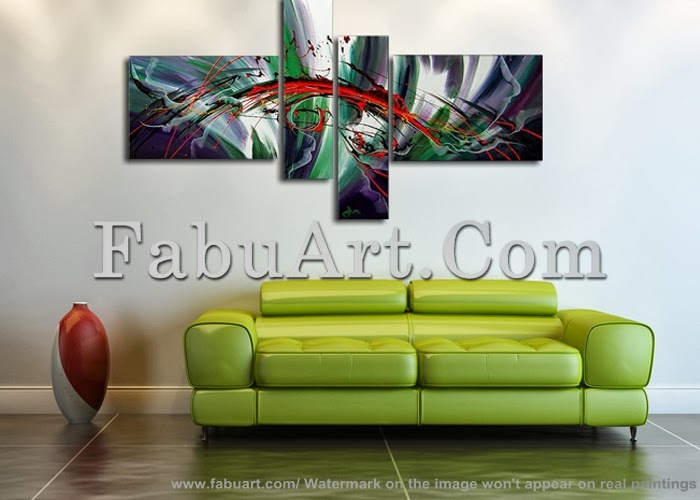 modern abstract art paintings living room