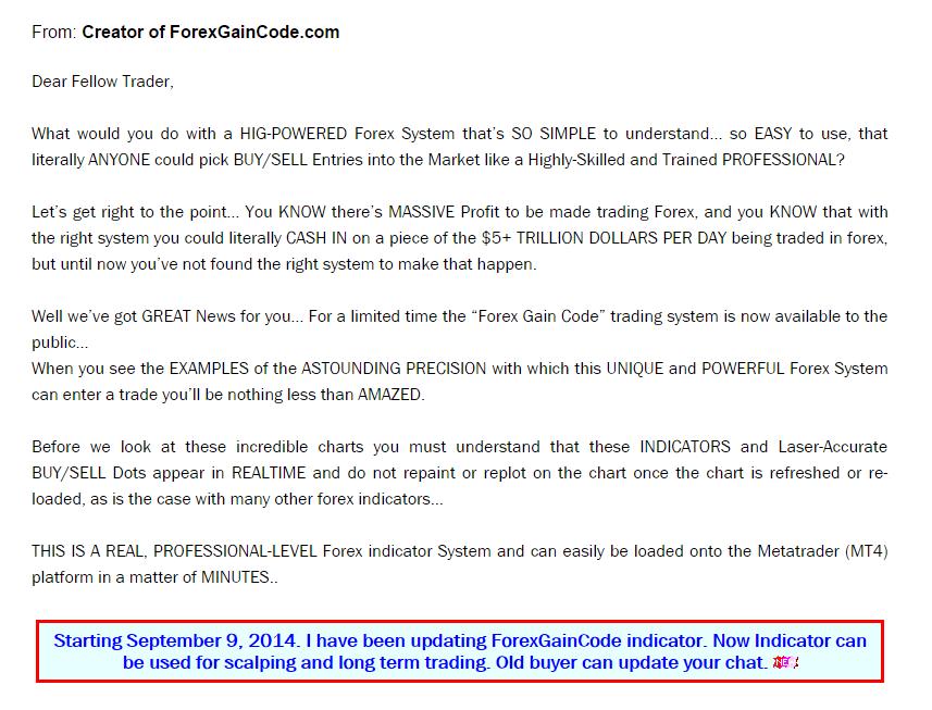 Forex gain code indicator