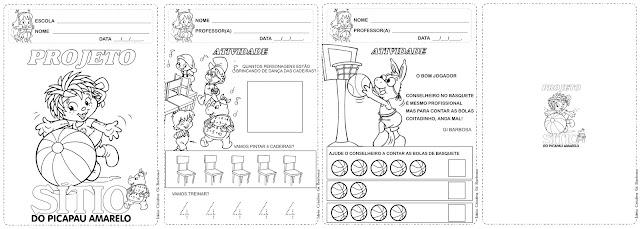 Caderno de Atividades Projeto Sítio do Picapau Amarelo