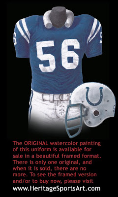 Baltimore Colts 1975 uniform - Indianapolis Colts 1975 uniform