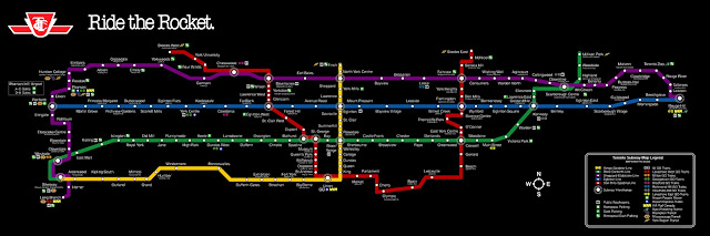 a subway map in Toronto