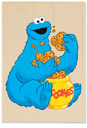 Cookie Monster Eating Cake
