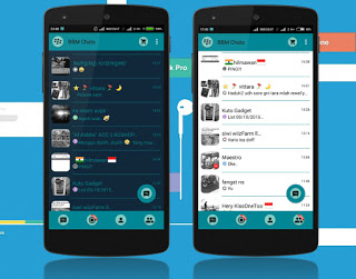 BBM NEO MATERIAL DARK LIGHT V2.10.0.31 Apk