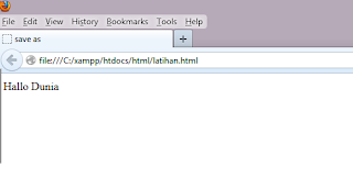 Hasil Dokumen HTML Yang Disimpan
