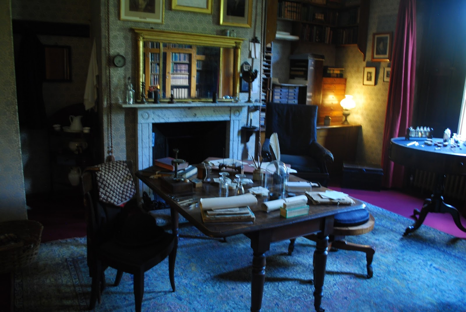Charles Darwin's study room in Downe House