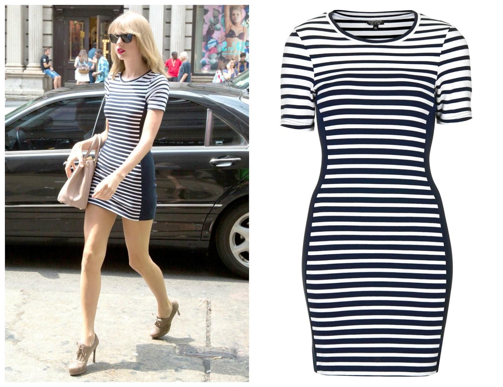 taylor swift topshop striped dress