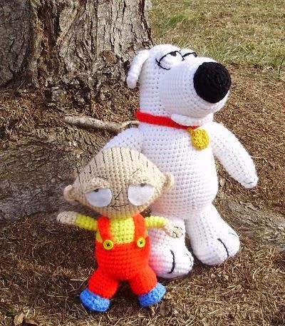 Free Stewie and Bryan Crochet pattern
