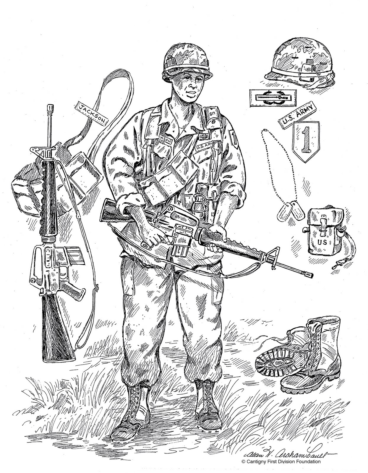 Free coloring pages of vietnam war soldier for Vietnam coloring pages