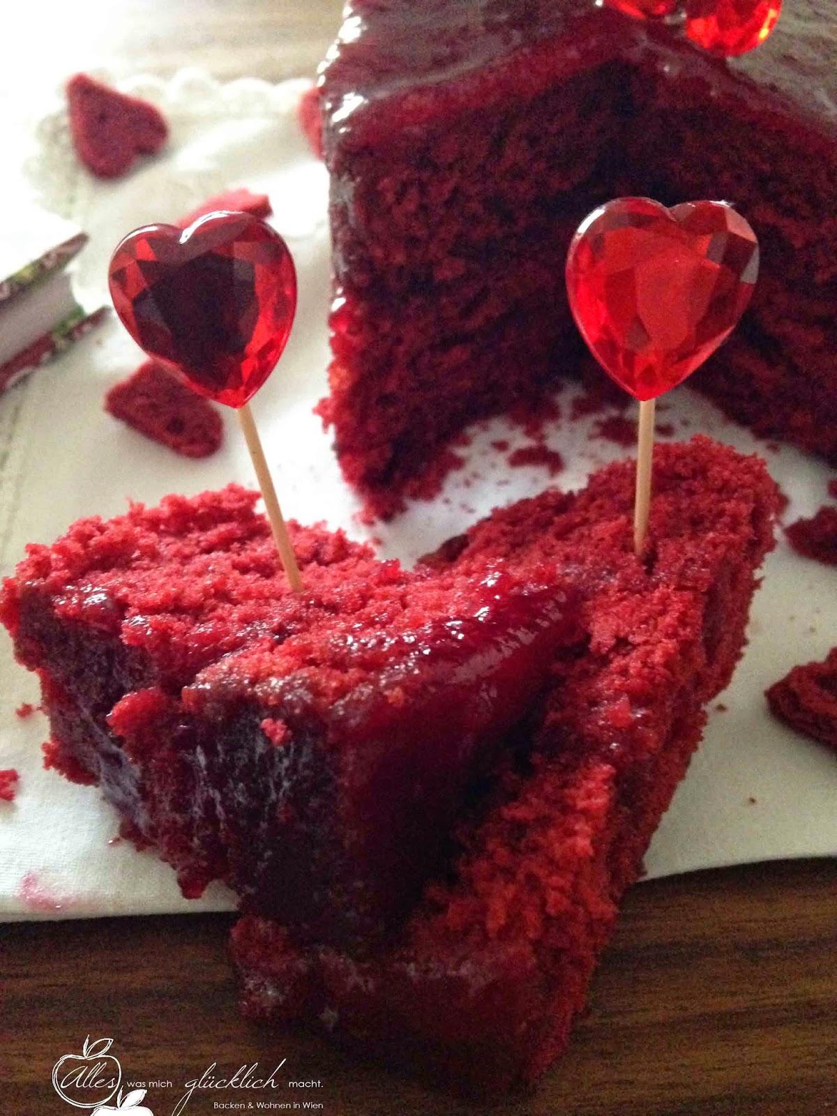 red velvet cake oder simple gesagt roter samt herzkuchen alles was mich gl cklich macht. Black Bedroom Furniture Sets. Home Design Ideas