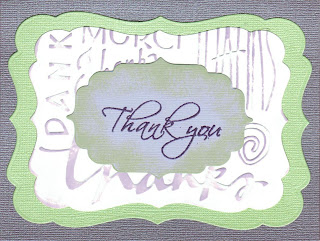 Thank you, Bazzill, Bling, cardstock, Spellbinders, Cuttlebug, embossing, folder, heat embossing, Memento