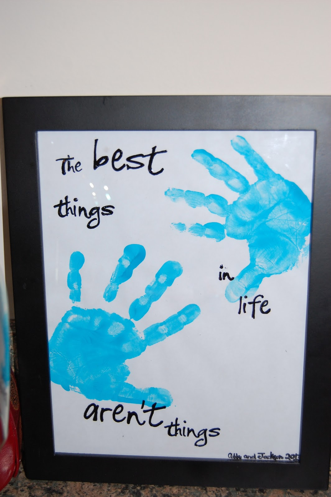 A Crafter In Chaos Best Things In Life Handprint Frame