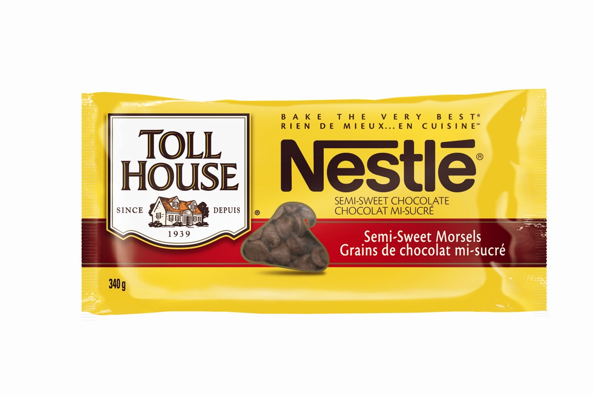 shelves containing nestles toll house semi sweert chocolate morselsNestle Dark Chocolate Chips