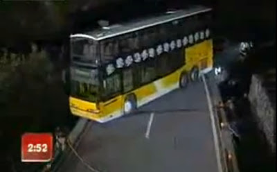 Video: Volvo Bus Takes U-Turn on a Narrow Bridge