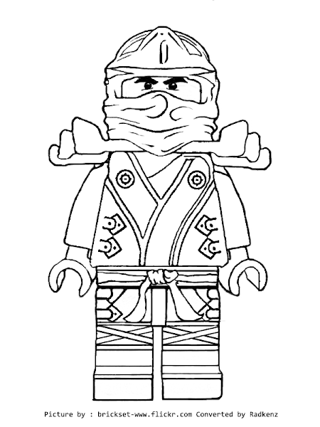 Golden Ninjago Coloring Pages