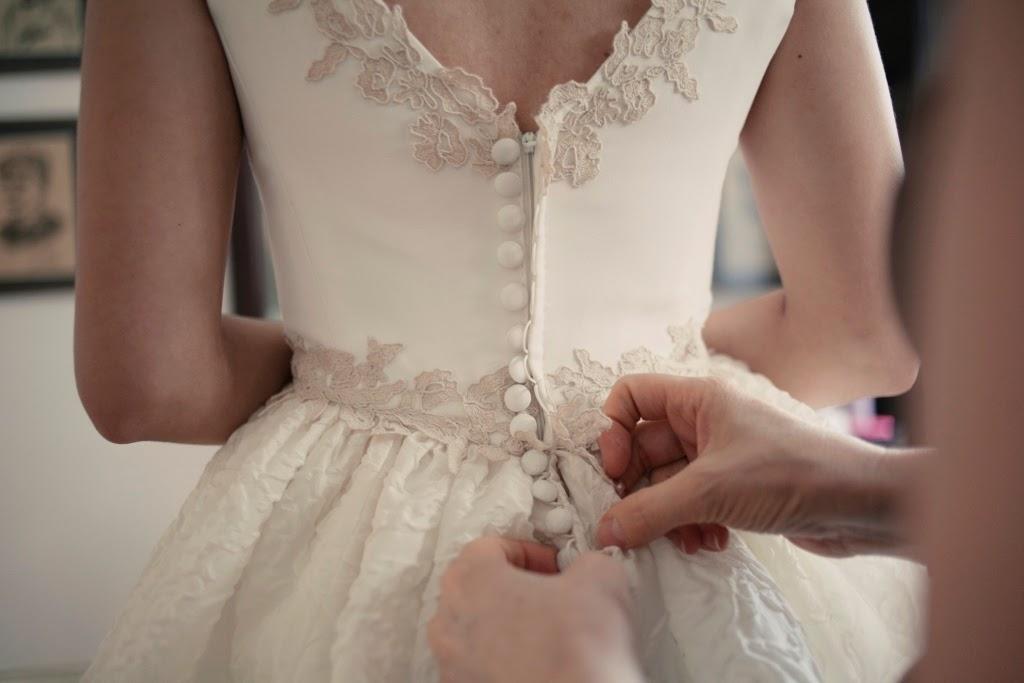 Botones para vestido de novia