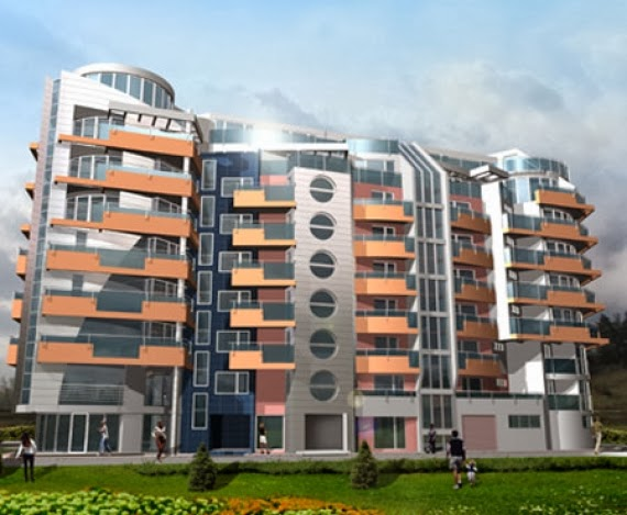 Apartment building elevation modern apartment building for Best elevations residential buildings