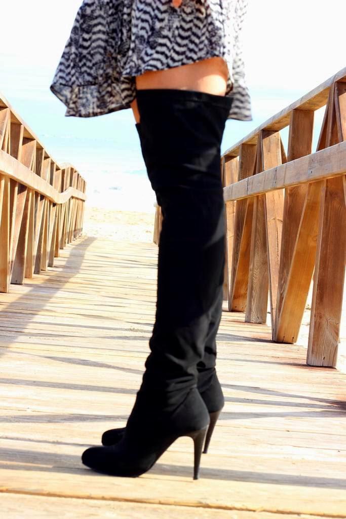 Botas altas- botas Leggings