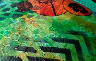Layered art journal page (Marjie Kemper)