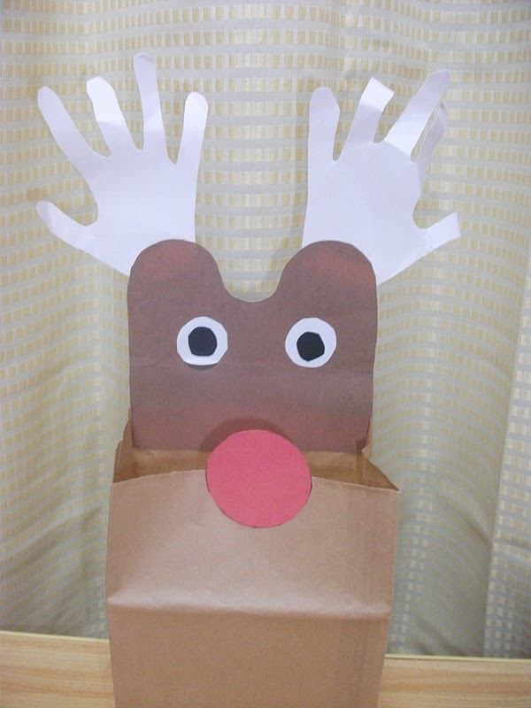 Reindeer Paper Bag Craft Preschool Crafts For Kids