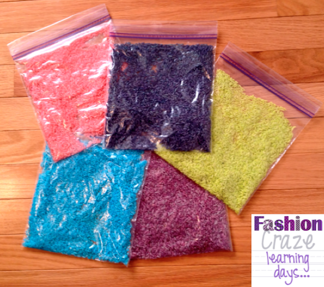 Rice sensory bags