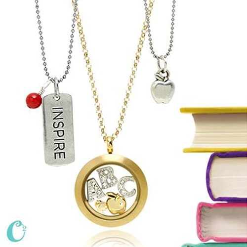 Show Teacher Appreciation with Origami Owl Necklace from StoriedCharms.com