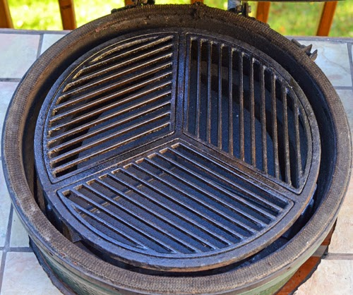 Craycort grate on cast iron plate setter