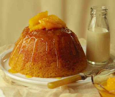 Steamed Orange, Cardamom and Grand Marnier Pudding