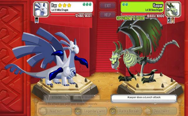 """Social Point """"Dragon City"""". """"Bone Dragon"""""""