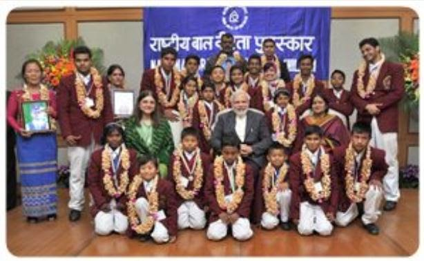 PM presents National Awards for Bravery to 24 children
