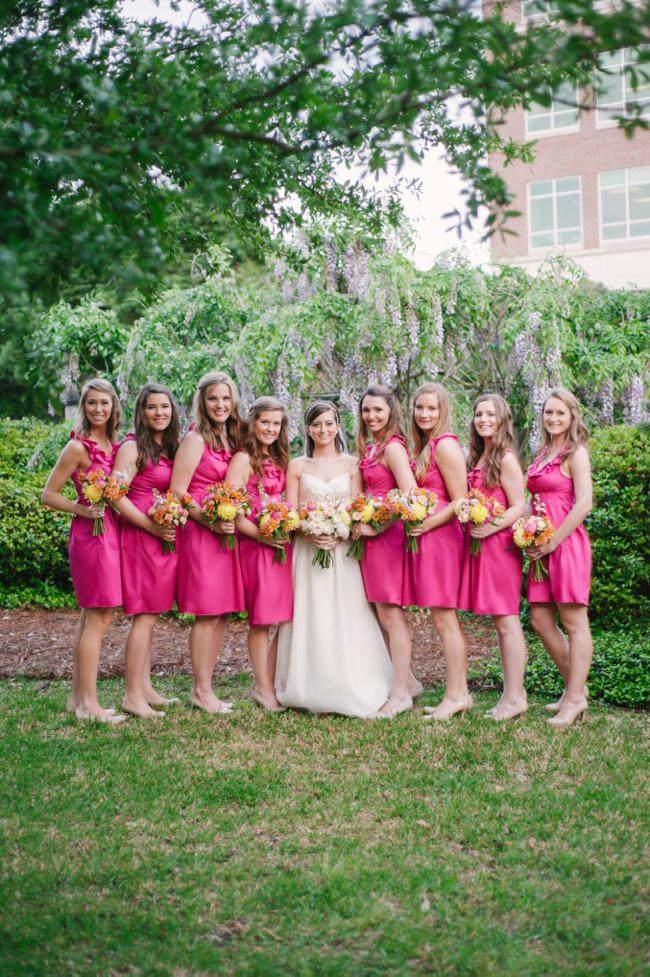 Independent designer real wedding pink magenta for Magenta dress for wedding