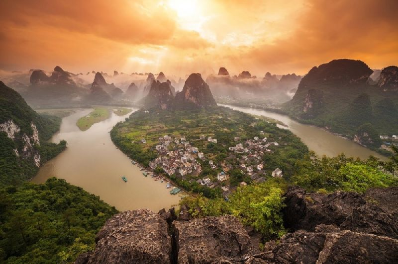 Tiny towns Yangshuo, China