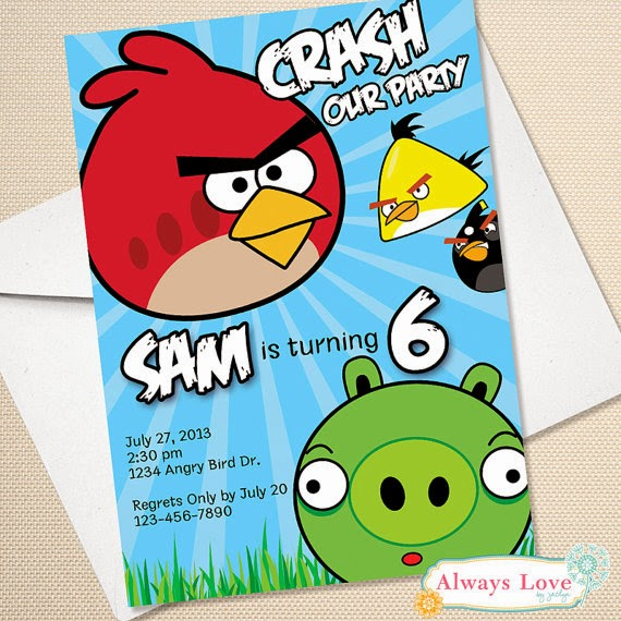 Etsy angry bird birthday party amanda g whitaker the good news is that once i plan one it will be easy to duplicate for the other there are some great party items on etsy for angry birds filmwisefo Choice Image