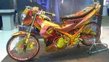 Foto Modifikasi Suzuki Racing Terbaru 2014 Jakarta