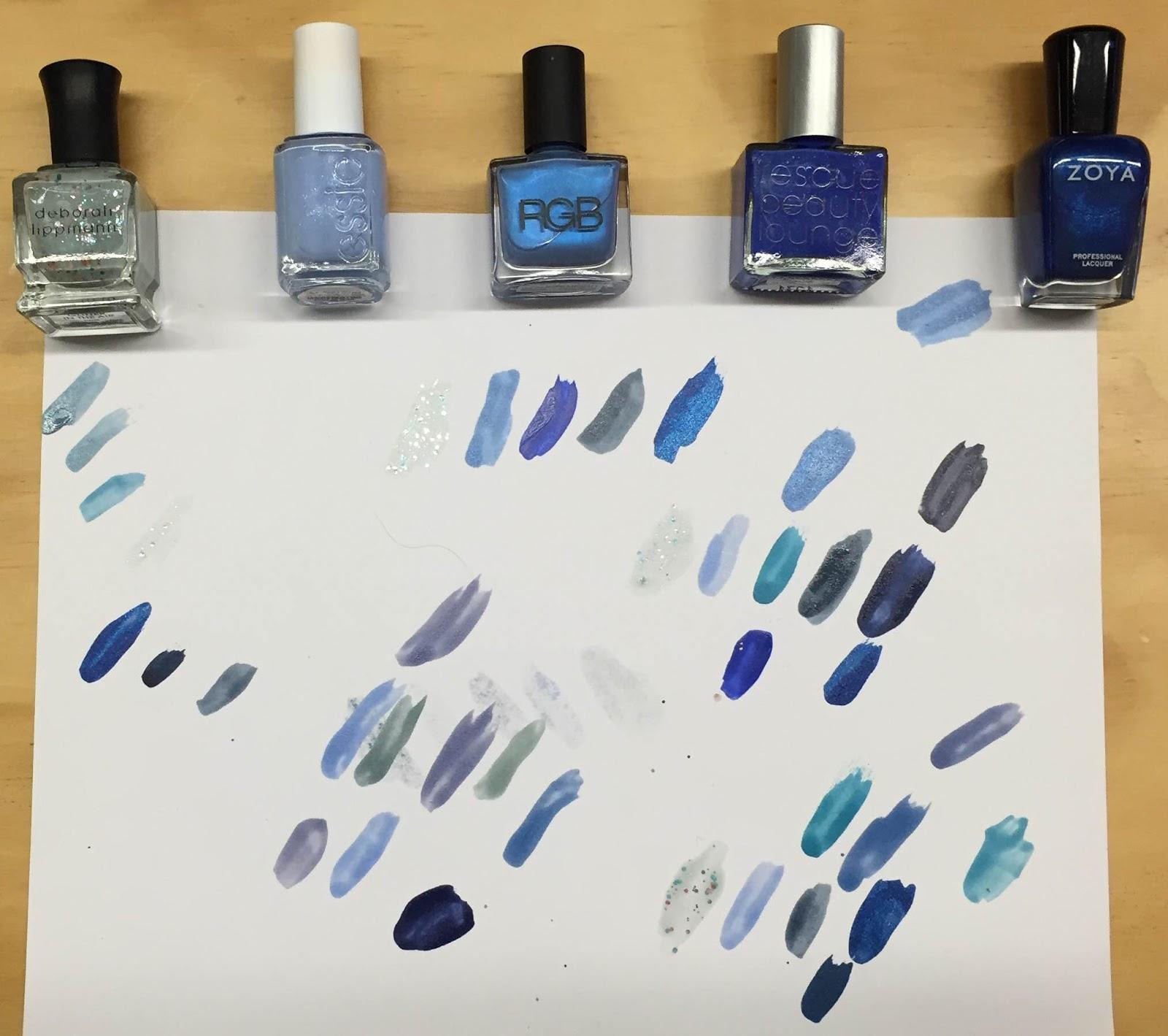 Blue Nail Polish Combinations: The Beauty Of Life: My Happy Hanukkah Nail Art: A Blue