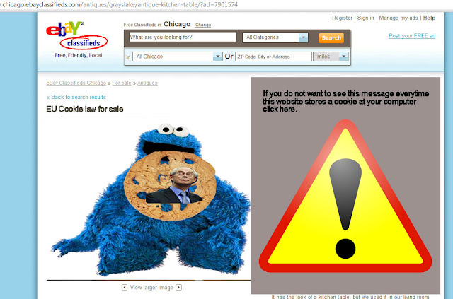 EU cookie law: example asking permission cookies
