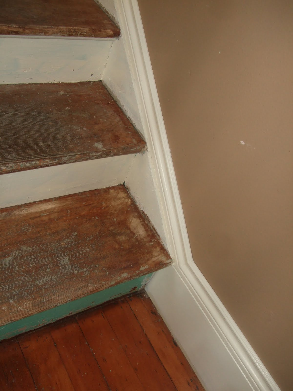 Stairs   Painting, Adding Baseboard, More Stripping