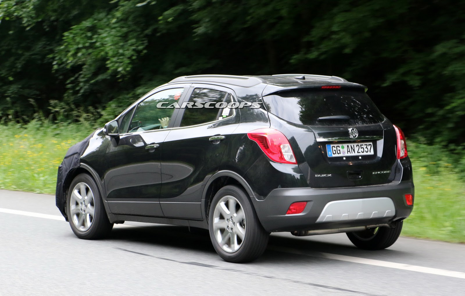 we spied gm testing facelifted buick encore and opel. Black Bedroom Furniture Sets. Home Design Ideas