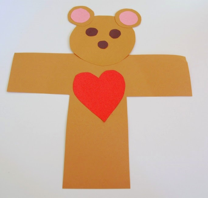 Valentine Bears by Eve Bunting  Craft for Kids