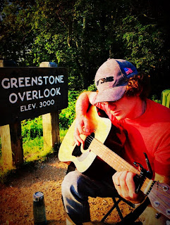 Playing guitar at Greenstone Overlook
