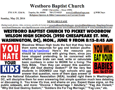 Picture of Westboro website