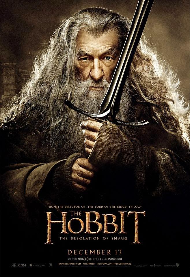 El Hobbit: la Desolación de Smaug - poster final Gandalf