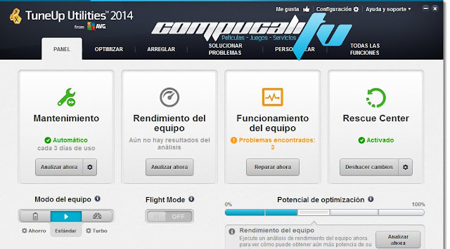 TuneUp Utilities 2014 Español Versión 14.0.1000.275 Final