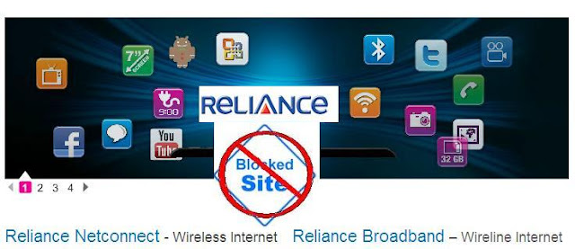 """This Site Has Been Blocked"" By Reliance"